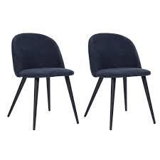 Set Of 2 Parson Chair Fabric Dining Room Chair Side Chair Accent Wingback Chair blue velvet diamond
