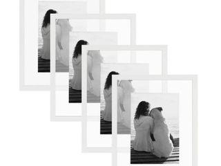 DesignOvation Gallery Float Glass Picture Frame Set