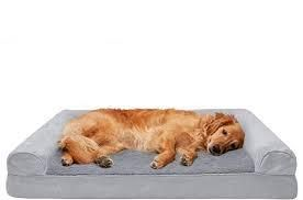 FurHaven Pet Plush   Suede Cooling Gel Top Sofa Dog pillow only jumbo grey