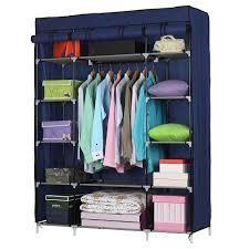 5 layer 12 Compartment Non woven Fabric Wardrobe Portable Closet  52 4 x 18 1 x 67