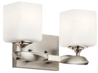 Kichler lighting Marette 2 light Vanity light Brushed Nickel  Retail 149 99