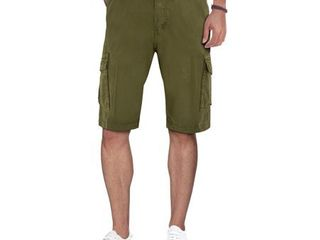 XRAY Men s Belted Classic Fit Cargo Shorts with Snap Closure 32