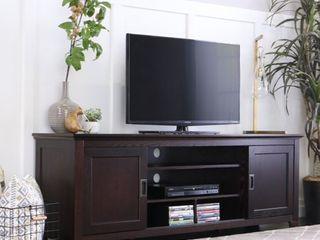 Strick   Bolton Tribolo 70 inch Espresso Sliding Door TV Console  Retail 544 49