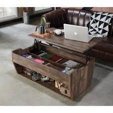 Furniture of America Uver Rustic Oak lift top Coffee Table  Retail 278 49 reclaimed oak