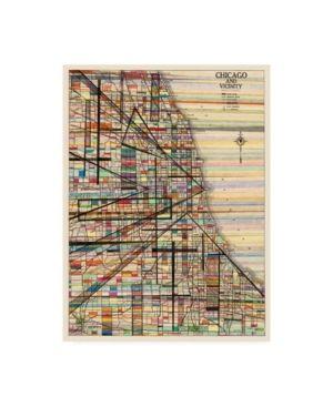 Nikki Galapon  Modern Map Of Chicago  Canvas Art  Retail 126 99