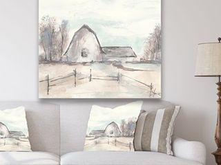 Designart  Farmhouse Barn Grey VIII  Modern Farmhouse Premium Canvas Wall Art  Retail 143 49