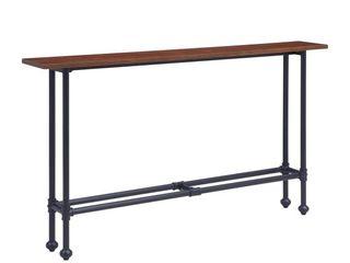 Southern Enterprises Agnew Console Table  30 H x 56 W x 8 D  Espresso Black