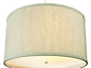 2 light Swag Plug In Pendant 18 w Textured Oatmeal with Diffuser  White Cord  Retail 119 99
