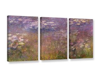 Claude Monet s  Water lilies  Agapanthus  1915 26  Gallery 3 Piece Gallery Wrapped Canvas Set  Retail 139 99