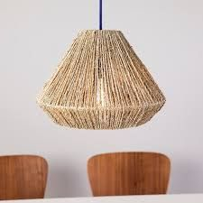 The Curated Nomad Westlake Seagrass 15 inch Pendant Shade