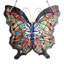 Chloe Tiffany Style Butterfly Design Window Panel Suncatcher  Retail 143 49