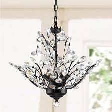 Terra Antique Copper Iron Clear Glass Crystal 4 light Chandelier  Retail 112 99
