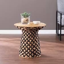Harper Blvd Bonovan Woven Accent Table  Retail 105 49 natural and black