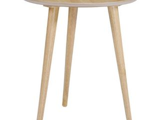 Evie Wood End Table with Faux Wood Overlay by Christopher Knight Home   20 l x 20 W x 22 H