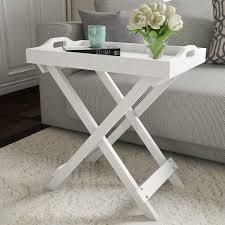 Carson Carrington Cullyhanna Wooden Contemporary Display Table   22 x 12 5 x 23   22 x 12 5 x 23 white