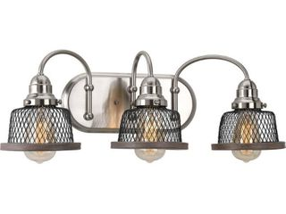 Tilley Collection 3 light Brushed Nickel Bath light   N A  Retail 193 40