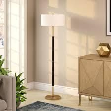 Silver Orchid Gotho Matte Black  Polished Nickel Floor lamp  Retail 91 49