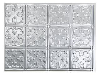 Fasade Traditional Style  10 Brushed Aluminum 15 square Foot Backsplash 1 only Retail 152 99