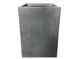 Small Kante lightweight Tall Outdoor Square Concrete Planter Slate Gray   Rosemead Home   Garden  Inc