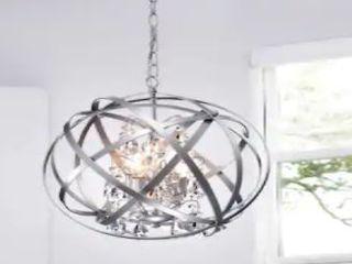 Benita Silver 4 light Metal Crystal Orb Chandelier  Retail 141 49