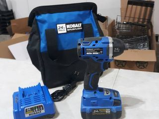 Kobalt Impack Drill With Battery  Charger  and Bag