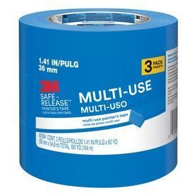 3M Safe Release 1 41 in x 180 ft Multi Surface Painter s Tape