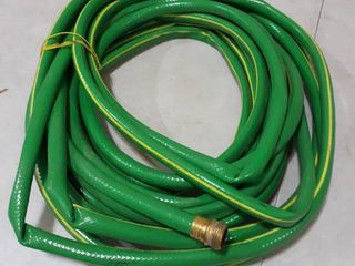 25a Green Garden hose with Yellow Stripe