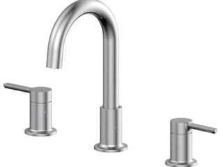 EZ FlO Metro Collection 8 in  Widespread 2 Handle Bathroom Faucet with 50 50 Pop up in Chrome