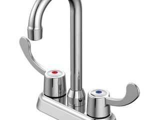 EZ FlO 2 Handle Bar Faucet   Brass N Basic