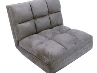 loungie Microsuede 5 position Convertible Flip Chair  Sleeper  Retail 233 49