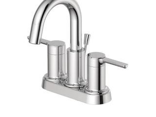 EZ FlO Metro Collection 4 in  Centerset 2 Handle Bathroom Faucet with 50 50 Pop Up in Chrome