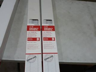 lot of 2  Project Source Cordless Vinyl Mini Blind 52 by 64 inch