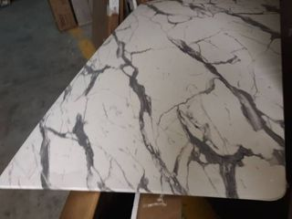 large Dining Room Table  Faux Granite  Approx  35 by 63 inch