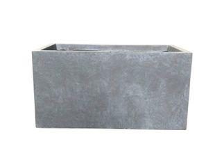 23  Kante lightweight Concrete Modern long low Outdoor Rectangular Planter Gray   Rosemead Home   Garden  Inc