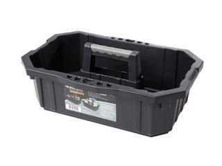 lot of 2  Husky 1 Compartment Professional Tool Caddy Small Parts Organizer  Black