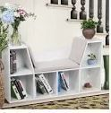 6 Cubby Kids Storage Cabinet Bookcase White