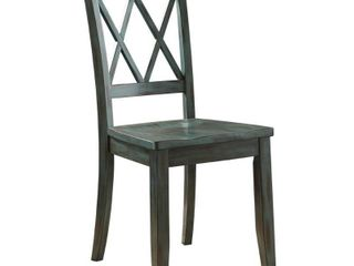 Mestler Dining Room Chair   Set of 2   Blue Green  Retail 204 49