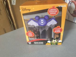 Gemmy 4 1 2 Airblown Inflatable Disney Hanging Mickey Mouse As Bat