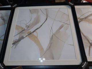 Natural Momentum I Black Framed Print  30 inch by 30 inch for all 3 Painting Parts