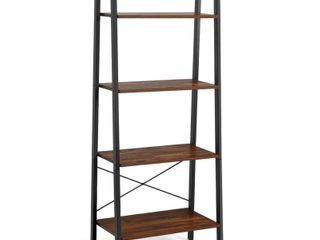 Costway 4 Tier ladder Shelf Bookcase Bookshelf Display Rack