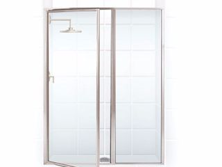 legend Series 51 5 inch to 53 inch x 66 inch Framed Hinge Swing Shower Door with Inline Panel