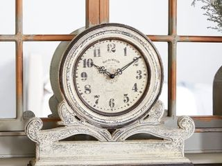 The Gray Barn Crow Haven Stone Grey Mahogany Table Clock