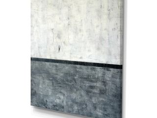 Designart  Grey and White Abstract Art Painting  Modern Canvas Wall Art