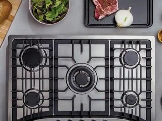 Built in 30  Gas Cooktop   5 Sealed Burners Cook Tops in Stainless Steel