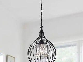 Acatia Round 3 light Black Foyer Metal Pendant