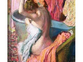 Edgar Degas  Seated Bather  Gallery Wrapped Canvas Art