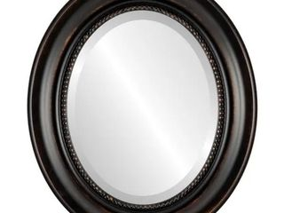 Heritage Framed Oval Mirror in Rubbed Bronze   Antique Bronze
