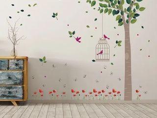 Walplus Spring Garden Birdcage Children Kids Wall Sticker Nursery Decor
