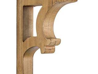 American Art Decor Wooden Corbels Shelf Brackets Farmhouse Decor  Set of 2   Brown