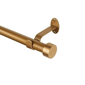 Serena Adjustable 28 48  Curtain Rod with Cap Finials